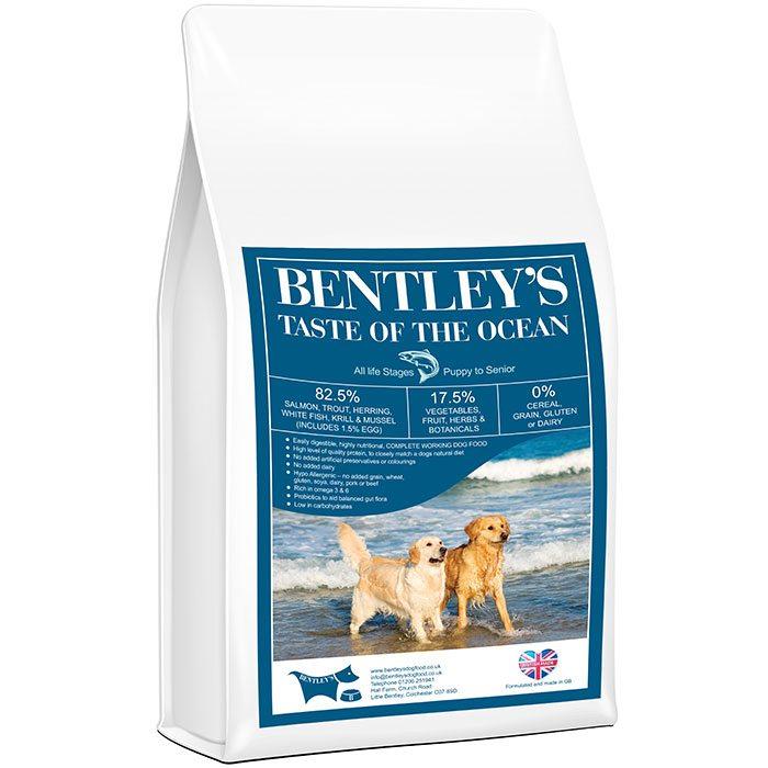 Bentley's Hypoallergenic Grain Free Dry Fish High Protein Dog Food