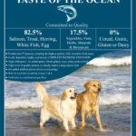Taste of the Ocean Fish Dog Food Label